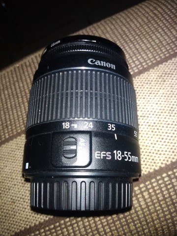 Lente Canon 18/55m nova zero - Foto 5