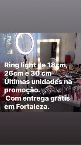 QUEIMA DE ESTOQUE! Ring light por 99,99 com entrega grátis