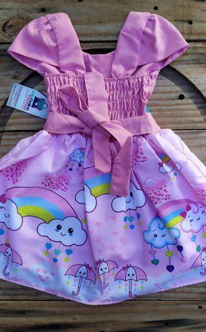 Vestido infantil temático Chuva de Bençãos - Foto 2