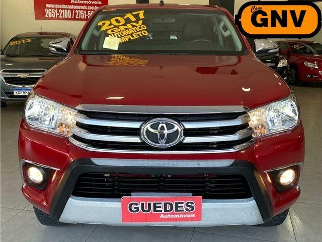Toyota Hilux 2.7 Srv 4x2 C.dupla Flex+Gnv  Automático 2017!!! - Foto 3