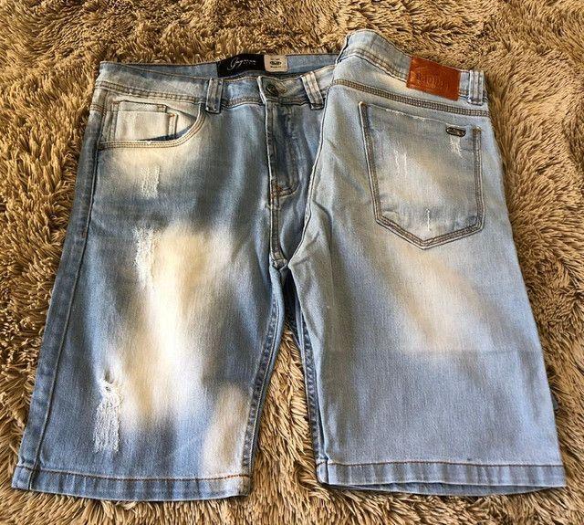 Bermudas masculina jeans e moletom - Foto 3