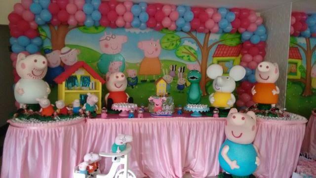 Peças decorativas Turma da Peppa-Pig na sua Festa de Aniversário Infantil