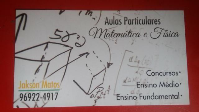 Aulas particulares Matemática e Física