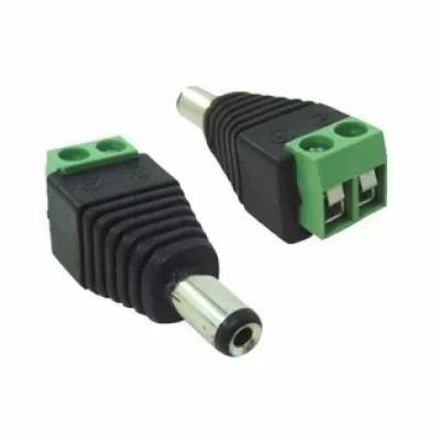 Conector P4 Macho c/ borne (Ideal p/ CFTV)