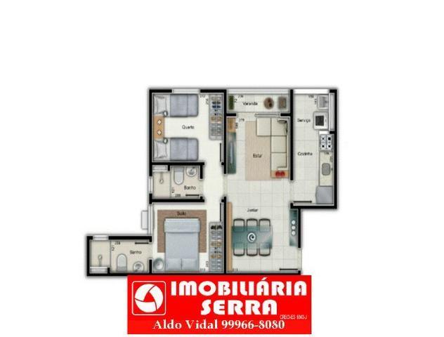 ARV - Apartamento 60m² 2Q com Quintal 33m² Próximo a toda Infraestrutura Lazer e Comercio - Foto 2