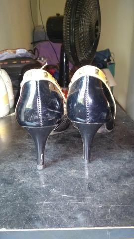 Sapato bico fino salto 6 cm número 37 - Foto 2