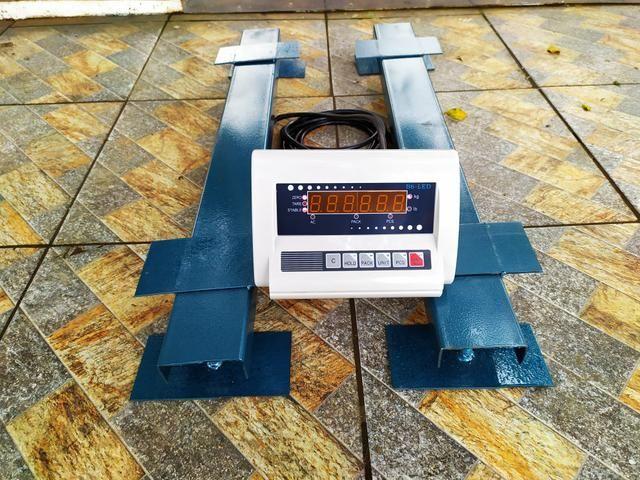 Balança de gado Barra de pesagem 3000 kg Bateria/Led vermelho Brete / Gaiola/ Tronco - Foto 5
