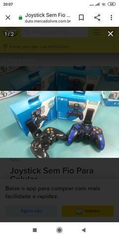 Joystick inova sem fio via bluetooth para jogos no celular