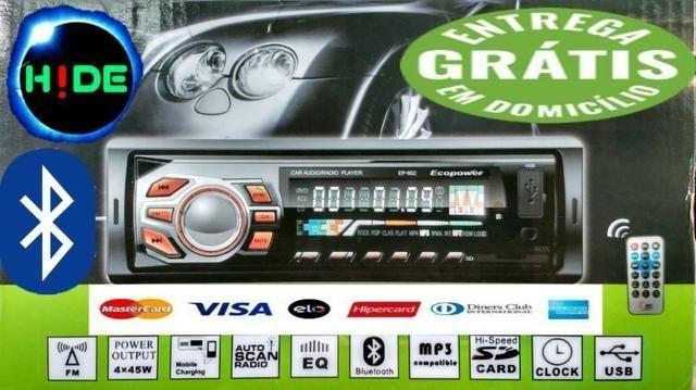 Promoção (entrega grátis) Som Bluetooth e pendrive para carro O menor preço de CG