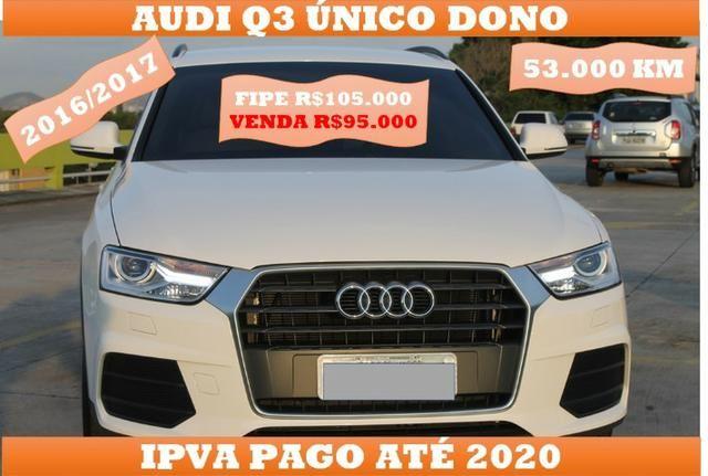 Audi Q3 1.4 Turbo 55.000km Único Dono 2016/2017 Ipva pago 95.000 a vista - Foto 2