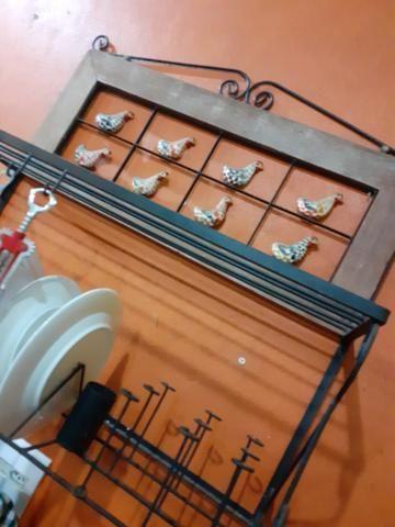 Paneleiro suporte prato rustico - Foto 3