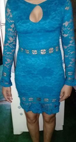 Vestido de renda azul - Foto 2
