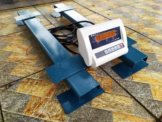 Balança de gado Barra de pesagem 3000 kg Bateria/Led vermelho Brete / Gaiola/ Tronco - Foto 4