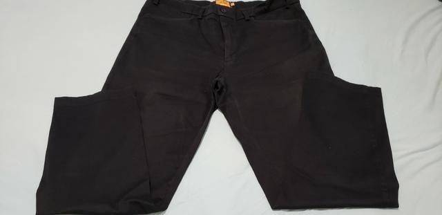 9e783c00c30f42 Calça sarja social masculina preta tamanho 50