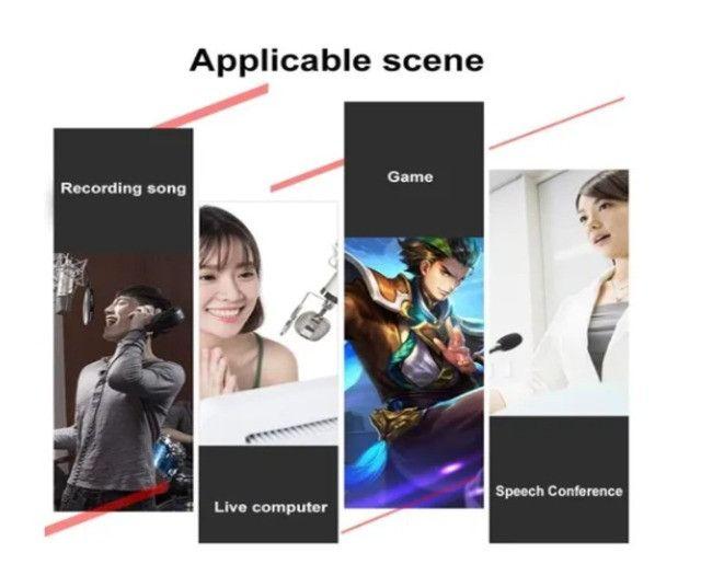 Placa De Som V8 Smart Multipurpose Live Interface De Áudio V8 1ra Geração - Foto 3