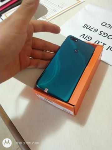 Moto E6 play azul / c/ biometria / novo / lacrado