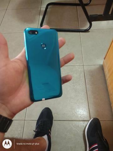 Moto E6 play azul / c/ biometria / novo / lacrado - Foto 3