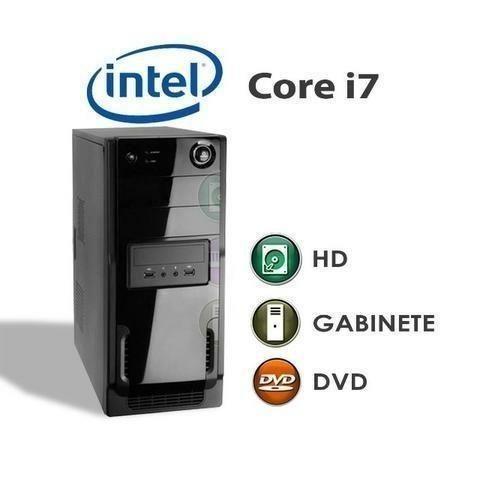 Só hoje! CPU core i7 4GB ddr3 500GB HD garantia
