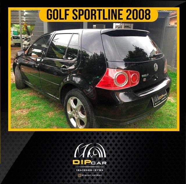 Golf 1.6 sportline completo 2008 couro - Foto 3