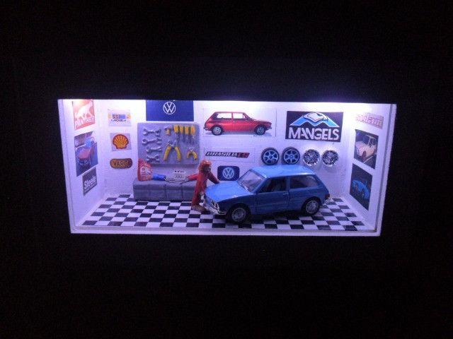 Quadro Oficina de carro miniatura Brasília nacionais - Foto 4