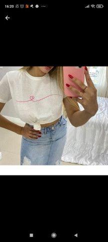 Tshirt Estampada Coração