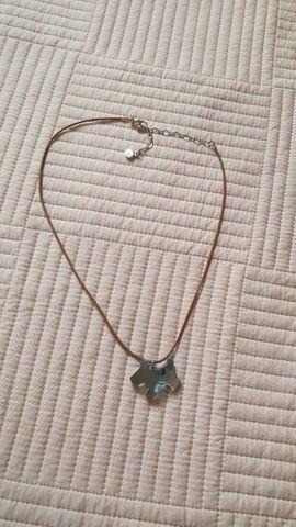 Colar Cristal Swarovski Pingente Cachorrinho Azul