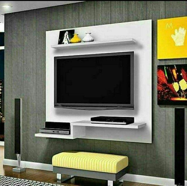 """Painel para tv de até 65""""polegadas novos temos de várias cores de MDF  - Foto 6"""