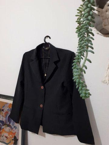 frete grátis - blazer chumbo (brechó) - Foto 3