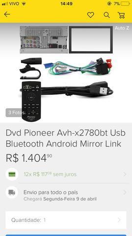 Dvd Pioneer mixtrax com Bluetooth
