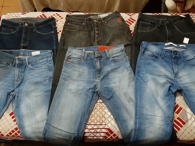 Calças masculinas novas/semi-marcas Tam.38, leia o anúncio