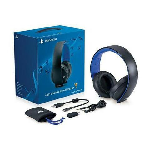 Headset Stereo Wireless Sony 7.1 New Gold Edition PS4