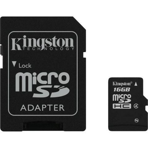 Cartão De Memória Kingston Micro Sdhc 16gb class 4 - Foto 2