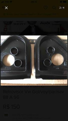 Acabamento interno do retrovisor para VW Gol/Voyage/Parati/Saveiro de 88 a 96