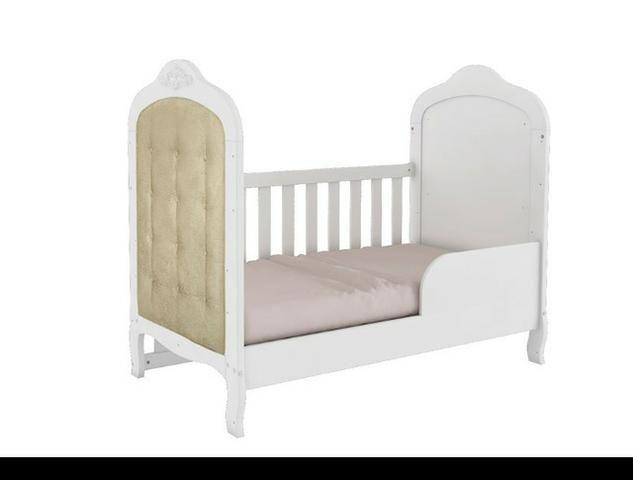 Frete Grátis* Quarto de Bebê Armário, Cômoda Lisa e Berço - Conforto Elô *NOVO - Foto 3