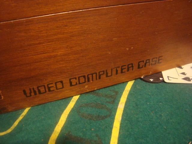 Atari frente madeira na caixa de madeira 2 controles - Foto 6