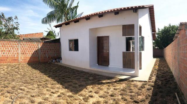 Casa nova financiável, bairro placas