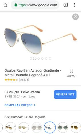 Ray Ban Aviador Gradiente - Bijouterias, relógios e acessórios ... c96ac37fc7