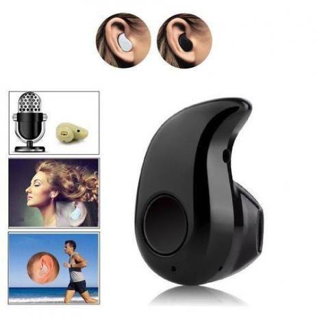 8fb7bb701 Mini Fone De Ouvido Sem Fio Bluetooth V4.0 Micro Menor Do Mundo Preto-