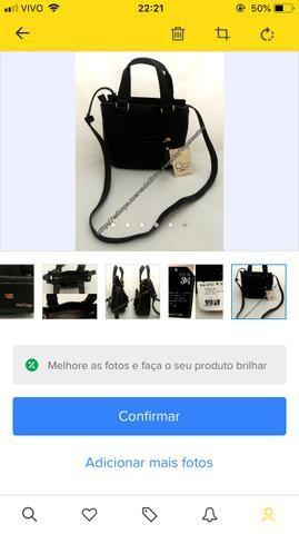 144fabadb PRESENTE DIA DAS MÃES!! Bolsa Feminina Pequena Preta 3 Em 1 Original ...