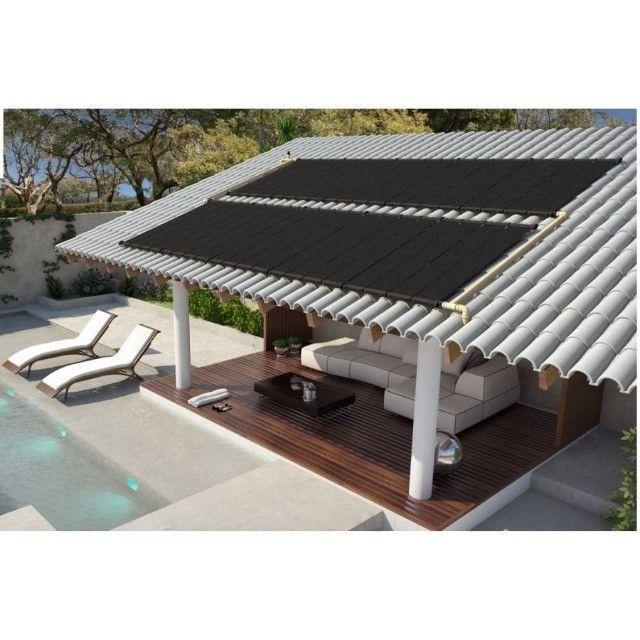 Kit Aquecedor Solar Piscina 15,75 m2 (05 Placas 3m) Pratic