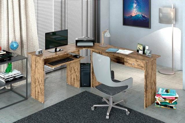 Mesa para escritorio master em L zapp * * - Foto 2
