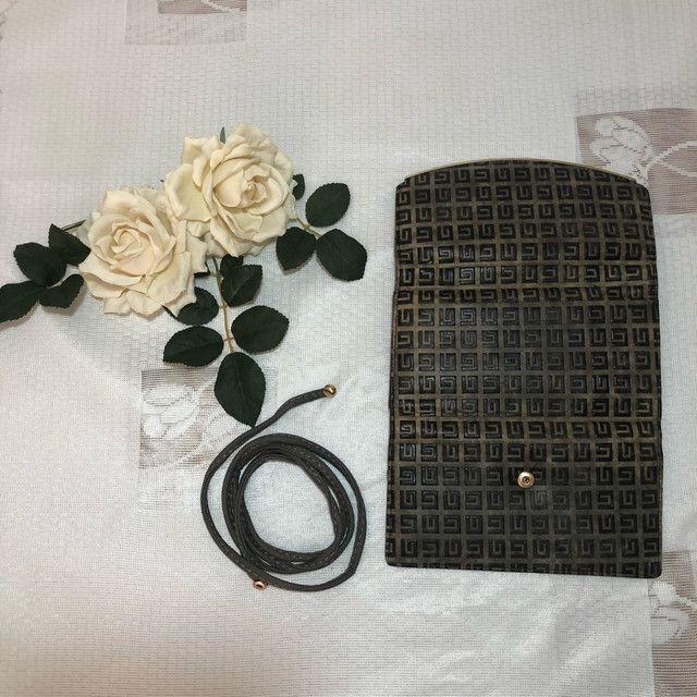 Carteira/bolsa em couro com alça  - Foto 4