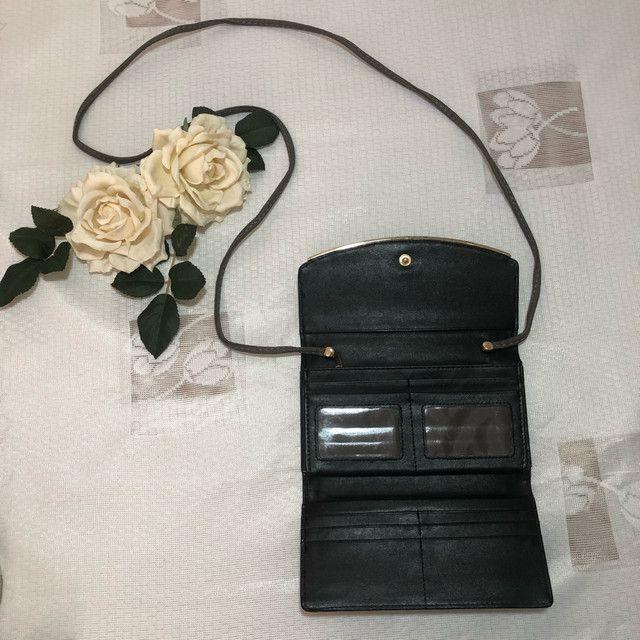 Carteira/bolsa em couro com alça  - Foto 2