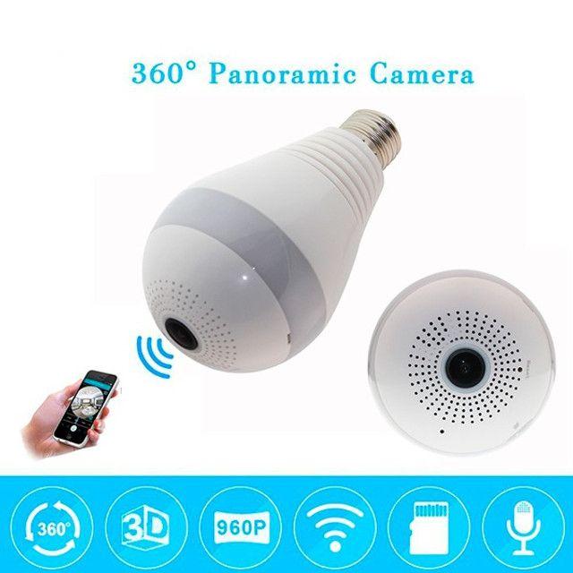 Camera Ip Seguraca Lampada Vr 360 Panoramica Espia Wifi  - Loja Natan Abreu  - Foto 3