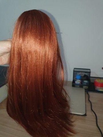 Rabo de cavalo americano - cabelo vermelho