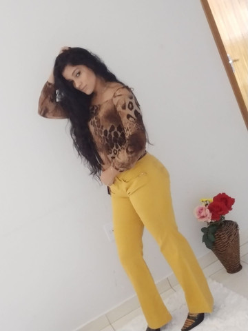 Calça jeans e blusa de onça - Foto 3