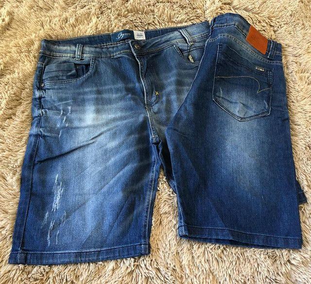 Bermudas masculina jeans e moletom - Foto 4