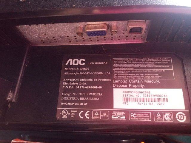 Monitor AOC 18 polegadas LCD - Foto 4