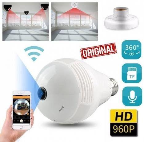 Camera Ip Seguraca Lampada Vr 360 Panoramica Espia Wifi  - Loja Natan Abreu  - Foto 2