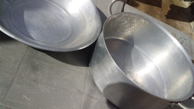 Kit Panela+Bacia Alumínio